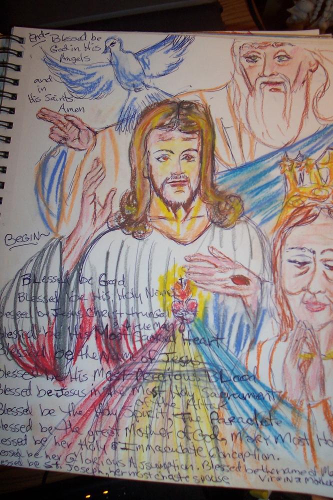 Virgin Mary, Jesus Christ par cindykron